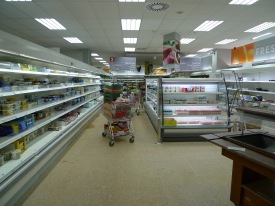 Supermarket before
