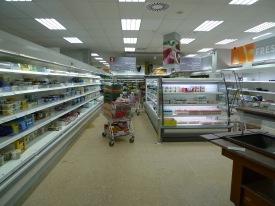 Supermarket before
